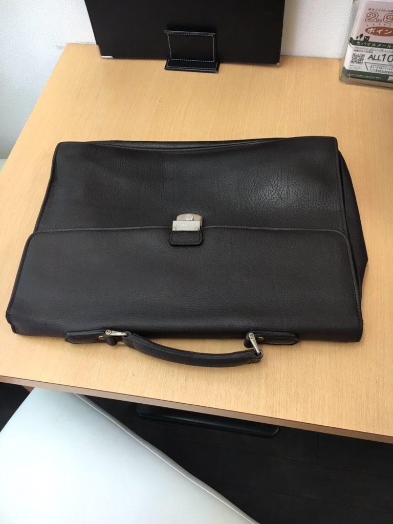 紳士皮革鞄リメイクafter|宇都宮クリーニングミツボシ